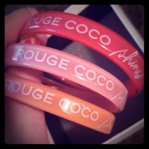 3 Authentic chanel rogue coco bracelets